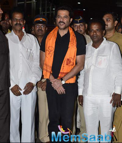 Anil Kapoor Smiles For The Cameras At Siddhivinayak Temple In Mumbai