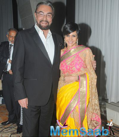 Kabir Bedi Posed With Mandira Bedi At Felicitation And Gala Networking Night Of ACETECH 2014