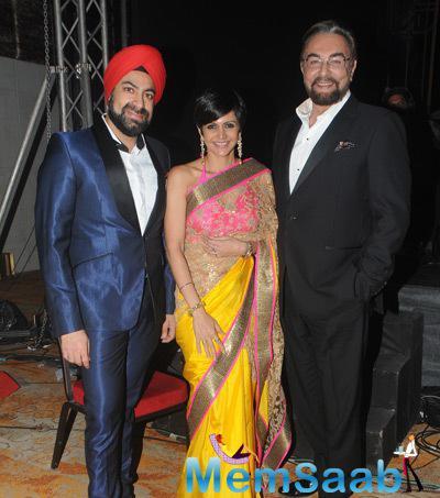 Mandira Bedi And Kabir Bedi During Felicitation And Gala Networking Night Of ACETECH 2014