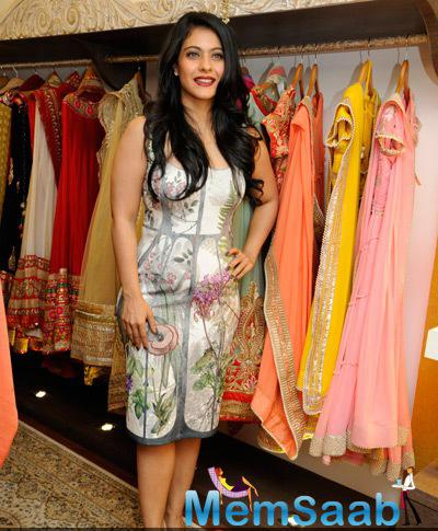 Kajol Devgan Looked Amazing During The Launch Of Malini Agarwall Label Malaga New Flagship Store