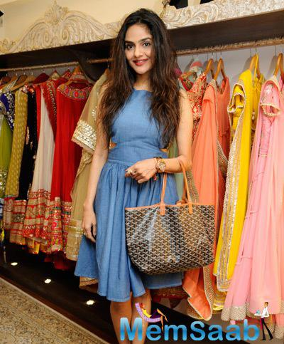 Madhoo Stylish Look During The Launch Of Malaga New Flagship Store