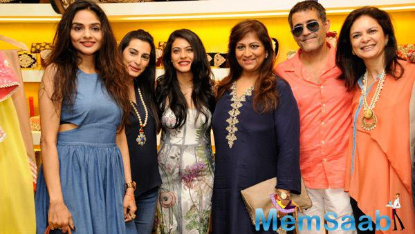 Madhoo,Mana Shetty,Kajol Devgan,Malini Agarwalla And Others Clicked During The Launch Of Malini Agarwall Label Malaga New Flagship Store