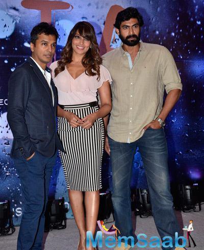 Vikram Phadnis,Bipasha Basu And Rana Daggubati Clicked During Announcement Press Meet Of Vikram Phadnis Debut Film NIA