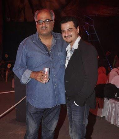 Boney Kapoor Posed With Younger Brother Sanjay Kapoor During The Trailer Launch Of Tevar Movie