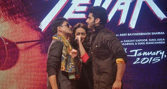 Manoj Bajpai,Sonakshi Sinha And Arjun Kapoor Launched The Trailer Of Tevar Showing Their Asli Tevar On The Stage
