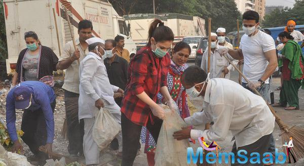 Tamannaah Bhatia Actively Participated In Cleanliness Drive