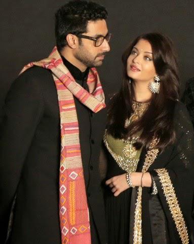 Abhishek Bachchan With Wife Aishwarya Rai Bachchan At The Opening Ceremony Of 20th Kolkata Film Fest