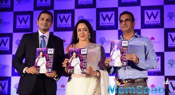 Punit Agarwal,Hema Malini And Santosh Naik Launched The Wollywood Magazine