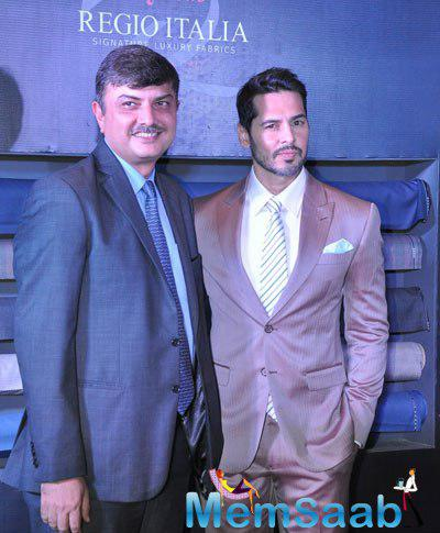 Dino Morea As A Showstopper At The Raymond Signature Luxury Fabric Launch