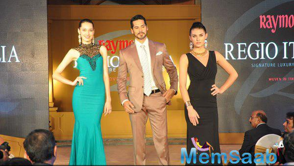 Dino Morea Walks The Ramp With Models For Raymond