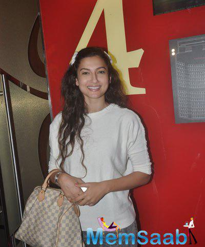 Gauhar Khan Flashes Smile During The Screening Of Garam Hawa Film