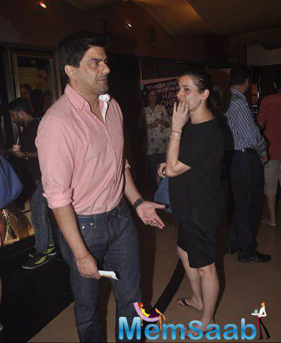 Samir Soni Present At The Screening Of Garam Hawa Film