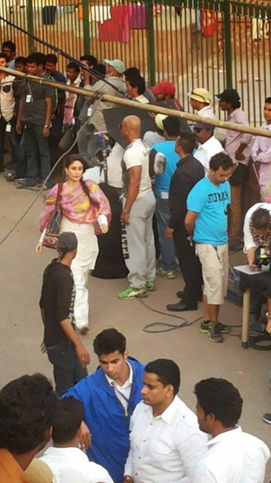 Kareena Kapoor Khan Nice Look On The Shooting Set Of Bajrangi Bhaijaan At Delhi