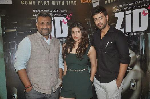 Anubhav Sinha,Barbie Handa And Karanvir Sharma Attend The Zid Movie Interviews