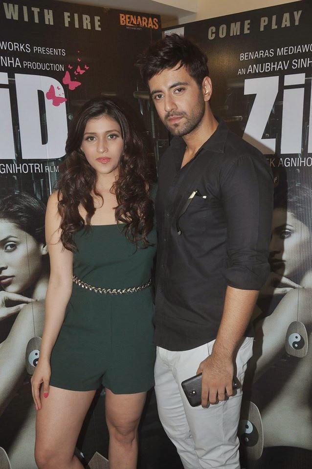 Barbie Handa And Karanvir Sharma Posed During The Zid Movie Interviews