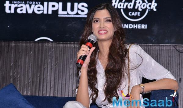 Diana Penty Interact With Media During The Launch Of Travel Plus Magazine Cover