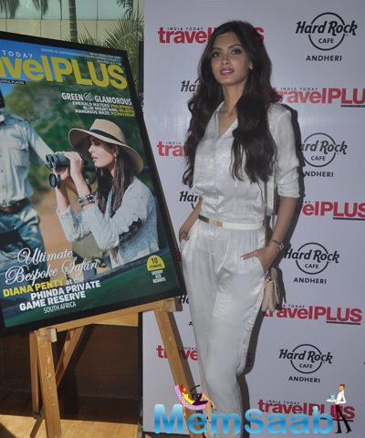 Diana Penty Posed During The Launch Of Latest Issue Of Travel Plus Magazine