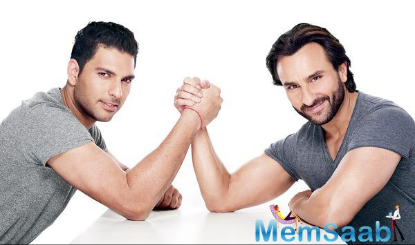 Yuvraj Singh And Saif Ali Khan Featured In Fair & Lovely Men Face Wash TVC Ad