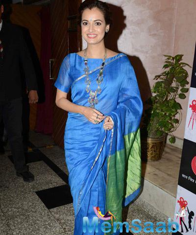 Dia Mirza Flashes Smile At The National Children Film Festival 2014