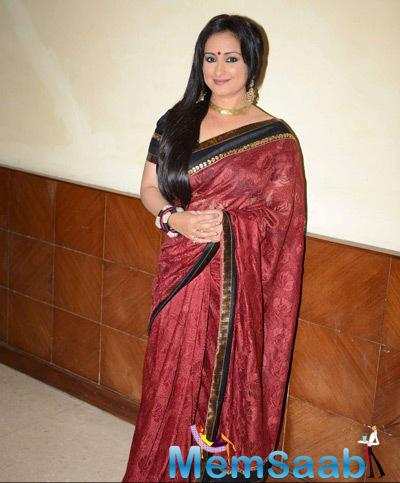 Divya Dutta In Saree Traditional Look During The National Children Film Festival 2014