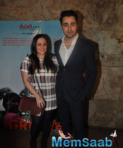 Imran Khan With Wife Avantika Malik Khan Posed During The Screening Of Documentary Movie Hosted By Aamir Khan