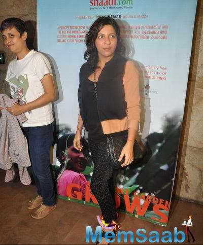 Zoya Akhtar Present At The Screening Of Documentary Movie Hosted By Aamir Khan
