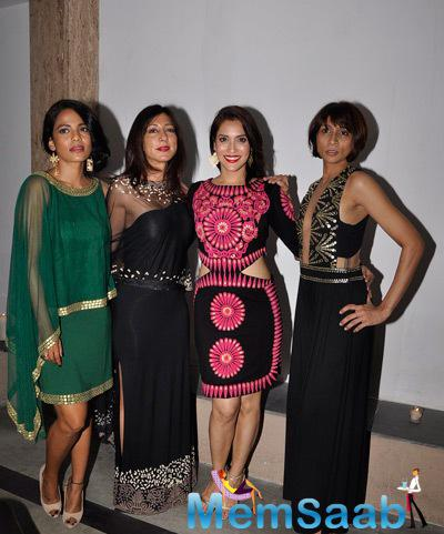 Priyanka Bose,Malini Ramani And Rashmi Nigam Posed At Aggarwal Preview