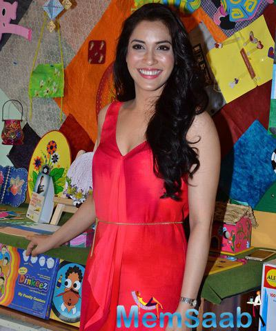 Rashmi Nigam In Red Dress Hot Look At Children Day Celebrations