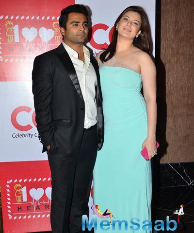 Sachiin J Joshi With Wife Urvashi Sharma During 100 Hearts Social Initiative Launch By CCL