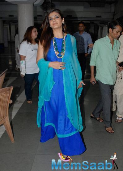 Raveena Tandon Arrived Lalitya Munshaw Concert