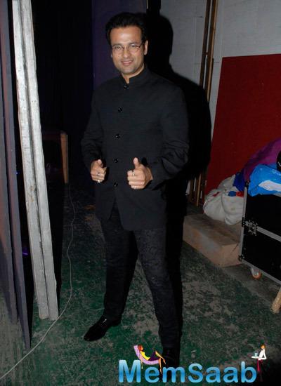 Rohit Roy Strikes A Pose During Lalitya Munshaw Concert