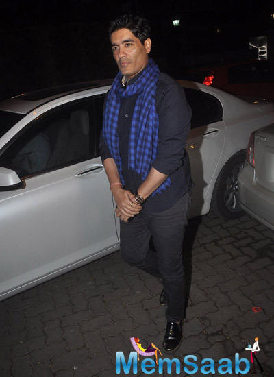 Designer Manish Malhotra Snapped At 12th Wedding Anniversary Of Sonali Bendre