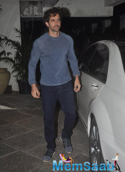 Hrithik Roshan Dappers Look During 12th Wedding Anniversary Of Sonali Bendre