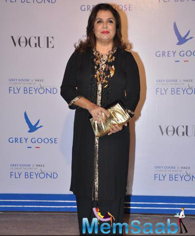 Farah Khan Attend The Grey Goose Fly Beyond Awards 2014