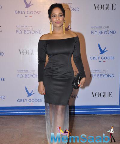 Masaba Gupta Posed For Camera During Grey Goose Fly Beyond Awards 2014