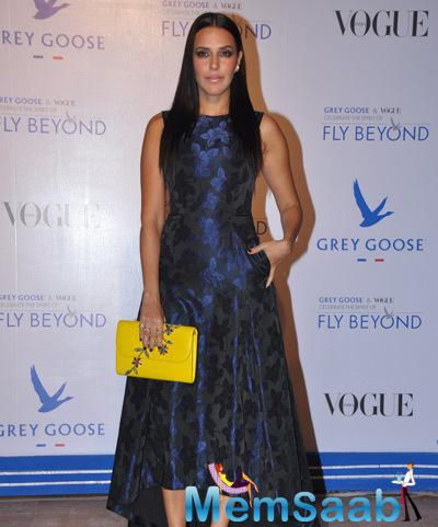 Neha Dhupia Fashionable Look At Grey Goose Fly Beyond Awards 2014