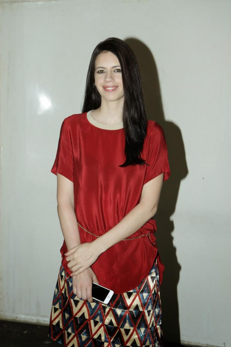 Kalki Koechlin In Red Top Gorgeous Look During The Screening Of Happy Ending