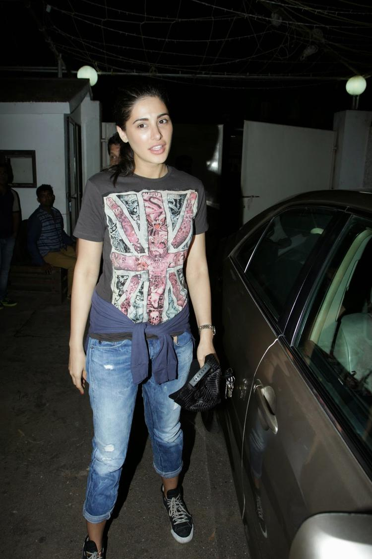 Nargis Fakhri Casual Look During The Screening Of Happy Ending