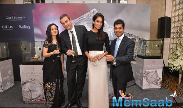 Anu Saboo,Jerome Riff,Lisa Haydon,Mukhtar Mohammed At The Launch Of Carl F. Bucherer Pathos Collection