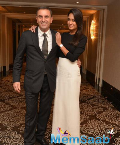 Jerome Riff Posed With Lisa Haydon During Carl F. Bucherer Pathos Collection Launch