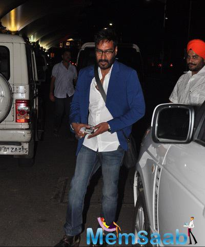 Ajay Devgan Clicked At Domestic Airport