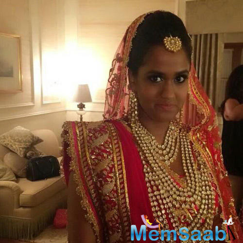 Arpita Khan Stunning In A Beautiful Pink Lehenga For Her Wedding Ceremony