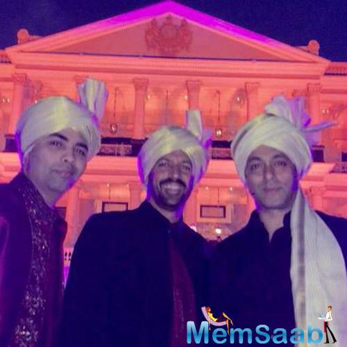 Karan Johar,Kabir Khan And Salman Khan Posed During Arpita Khan Wedding Ceremony