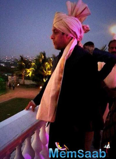 Salman Khan Waiting For The Baraat At Falaknuma Palace