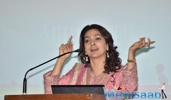 Juhi Chawla Spoke Few Words At Aarambh India