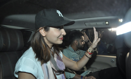 Anushka Sharma And Virat Kohli Waved At The Media From Their Car