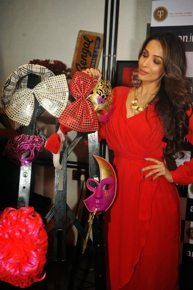 Malaika Arora Khan Elegant Look In Red Dress During Partnership Launch Between Amazon.In And The Label Corp
