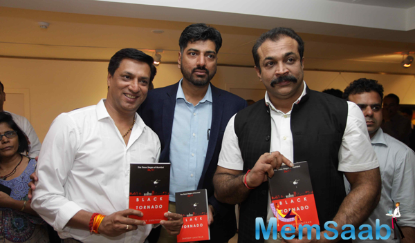 Madhur Bhandarkar,Sandeep Unnithan And Himanshu Roy Launched Sandeep Unnithan Book Black Tornado