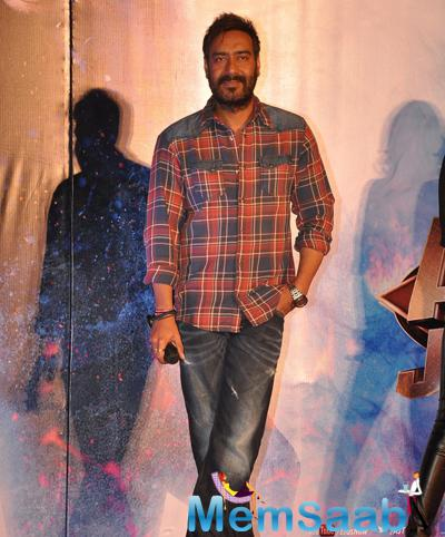Ajay Devgan Dashing Cool Look During Action Jackson Movie Gangster Baby Song Launch