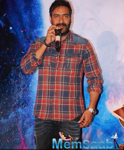 Ajay Devgan Interacts With Media During The Launch Of Action Jackson Song Gangster Baby